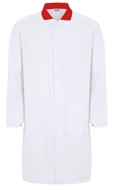 Picture of Food Trade Coat With Contrast Collar (245gsm) - No Pockets