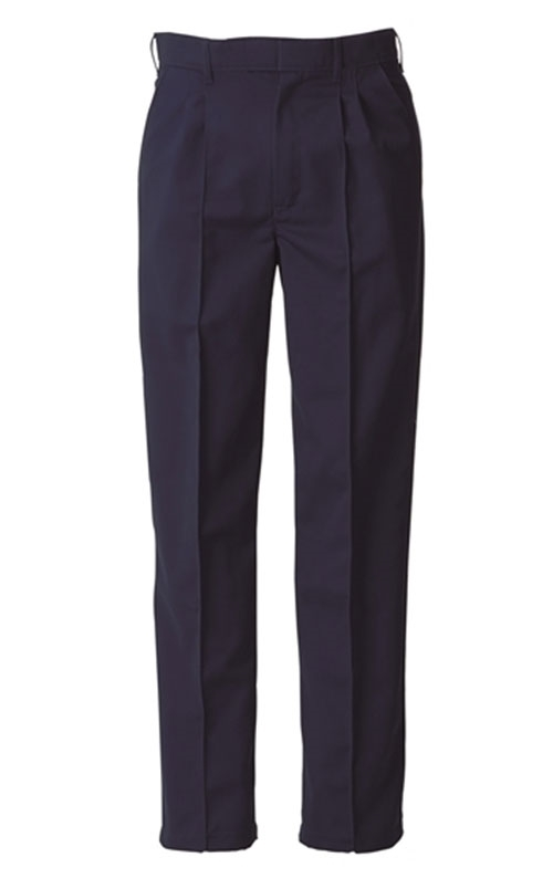 Picture of Food Trade Trouser with Half Elasticated Waistband No Pocket (245gsm) - Navy