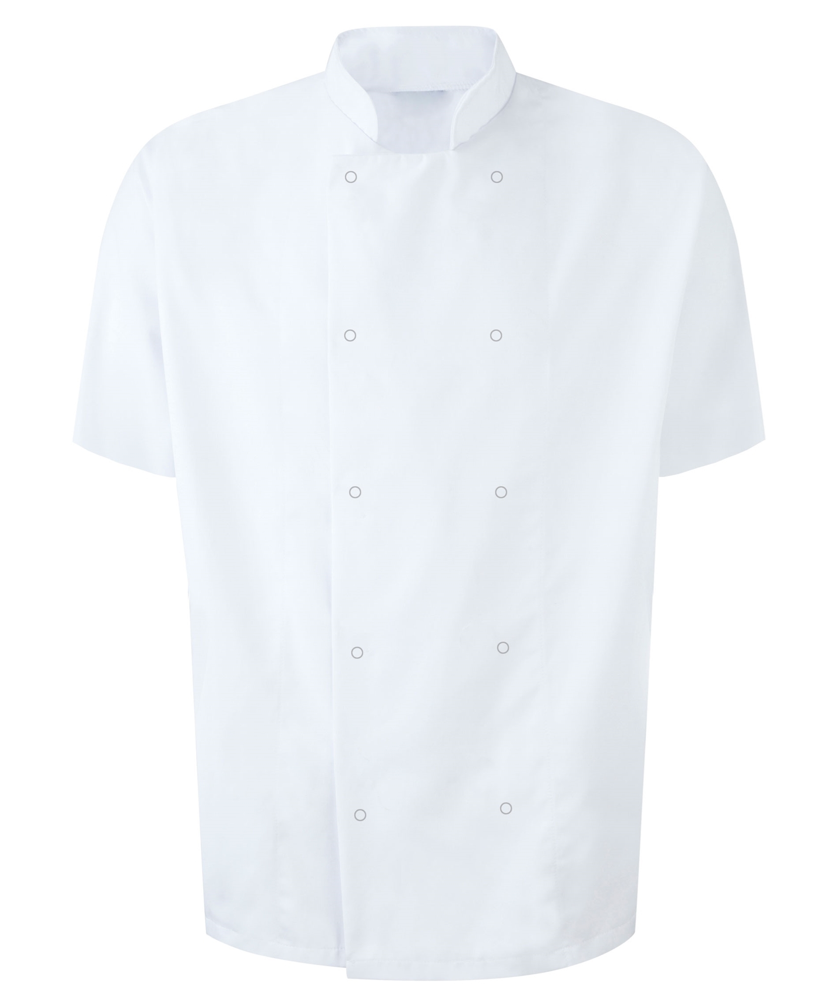 Picture of Unisex Short Sleeve Studded Chefs Jacket - White