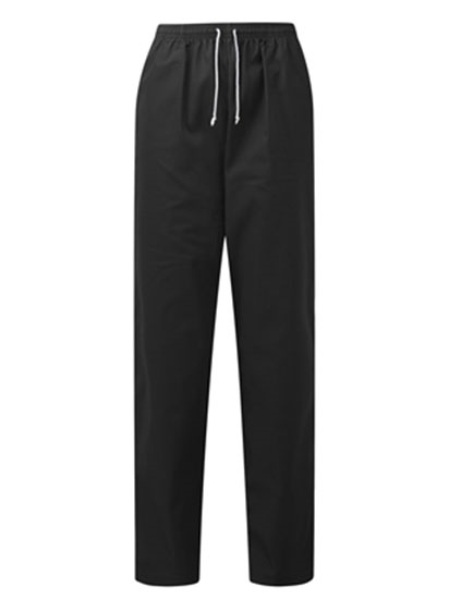 Picture of Unisex Elasticated Waist Chefs Trousers - Black