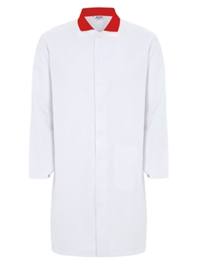 Picture of Food Trade Coat- Super White Red Collar