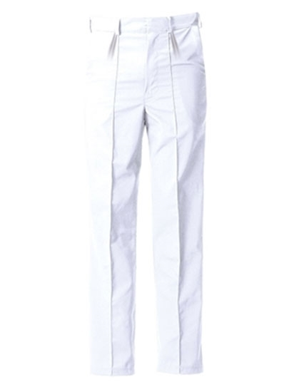 Picture of Food Trade Trouser with Half Elasticated Waistband No Pocket (245gsm) - Super White